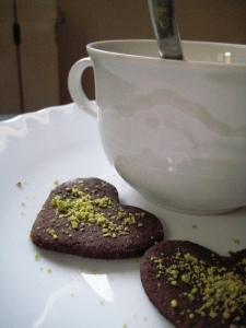 Biscotti cacao e farina di pistacchio