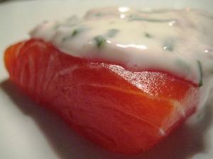 Salmone marinato con salsa allo yogurt di Cracco 2