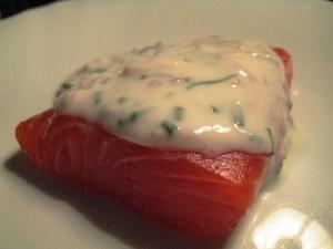 Salmone marinato con salsa allo yogurt di Cracco 3