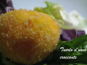 Tuorlo d'uovo croccante Cracco 2