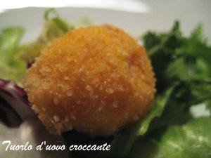 Tuorlo d'uovo croccante Cracco