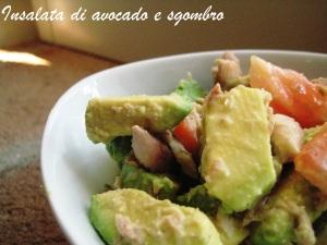 Insalata di avocado e sgombro