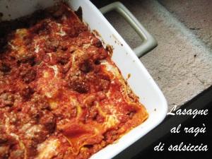 Lasagne al ragù di salsiccia 2