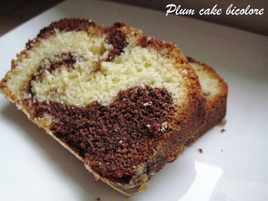 Plum cake bicolore 2