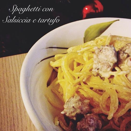 Spaghetti con salsiccia e tartufo 2
