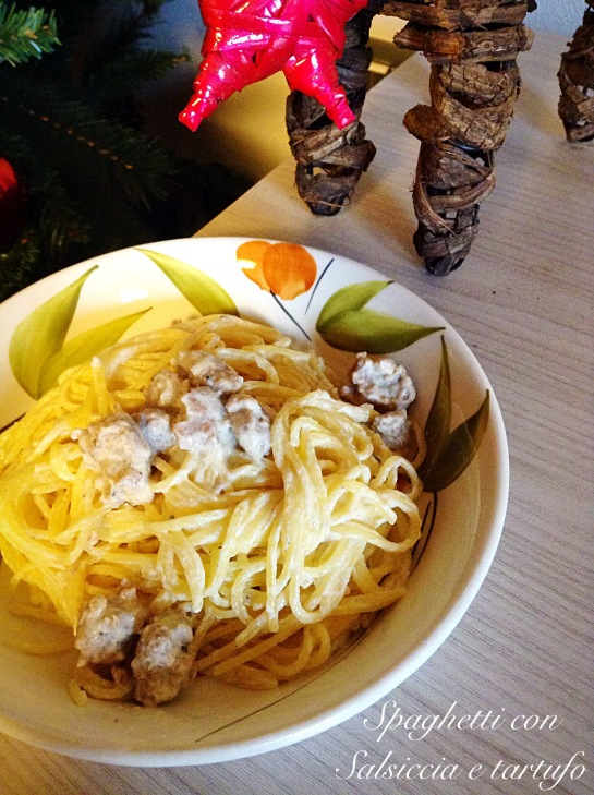 Spaghetti con salsiccia e tartufo 3