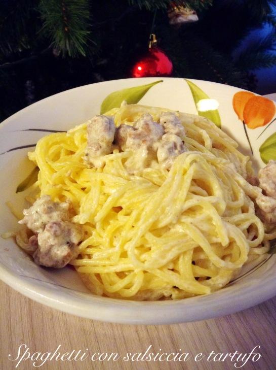 Spaghetti con salsiccia e tartufo 4