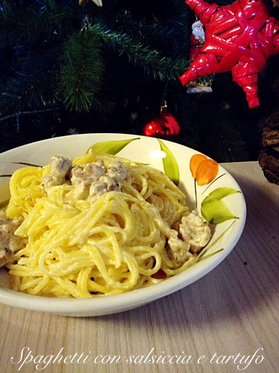 Spaghetti con salsiccia e tartufo 5