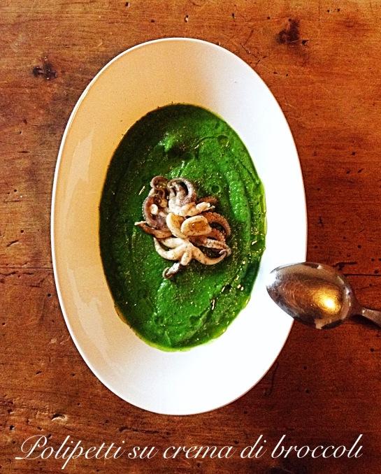 Polipetti si crema di broccoli