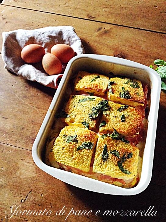 Sformato di pane e mozzarella 2