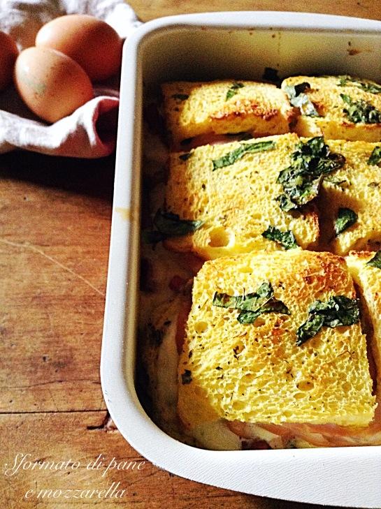 Sformato di pane e mozzarella 4