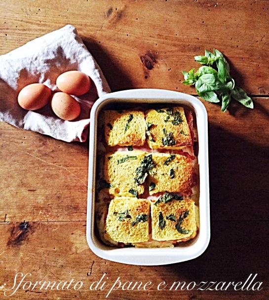 Sformato di pane e mozzarella