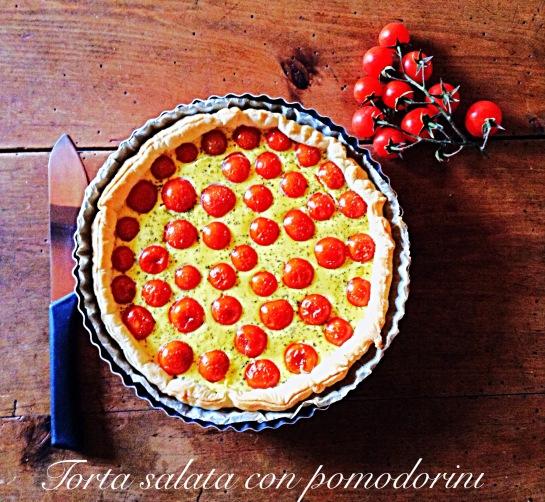 Torta salata con pomodorini 2