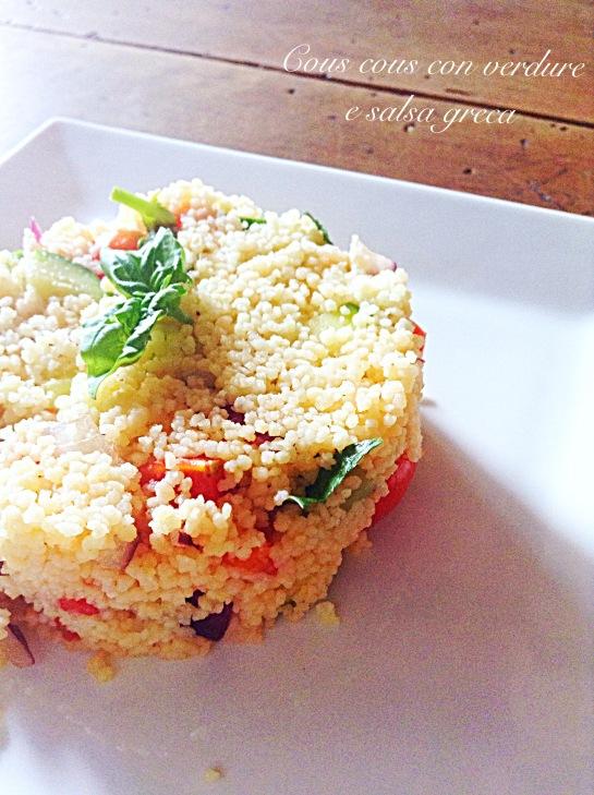 Cous cous con verdure e salsa greca 2