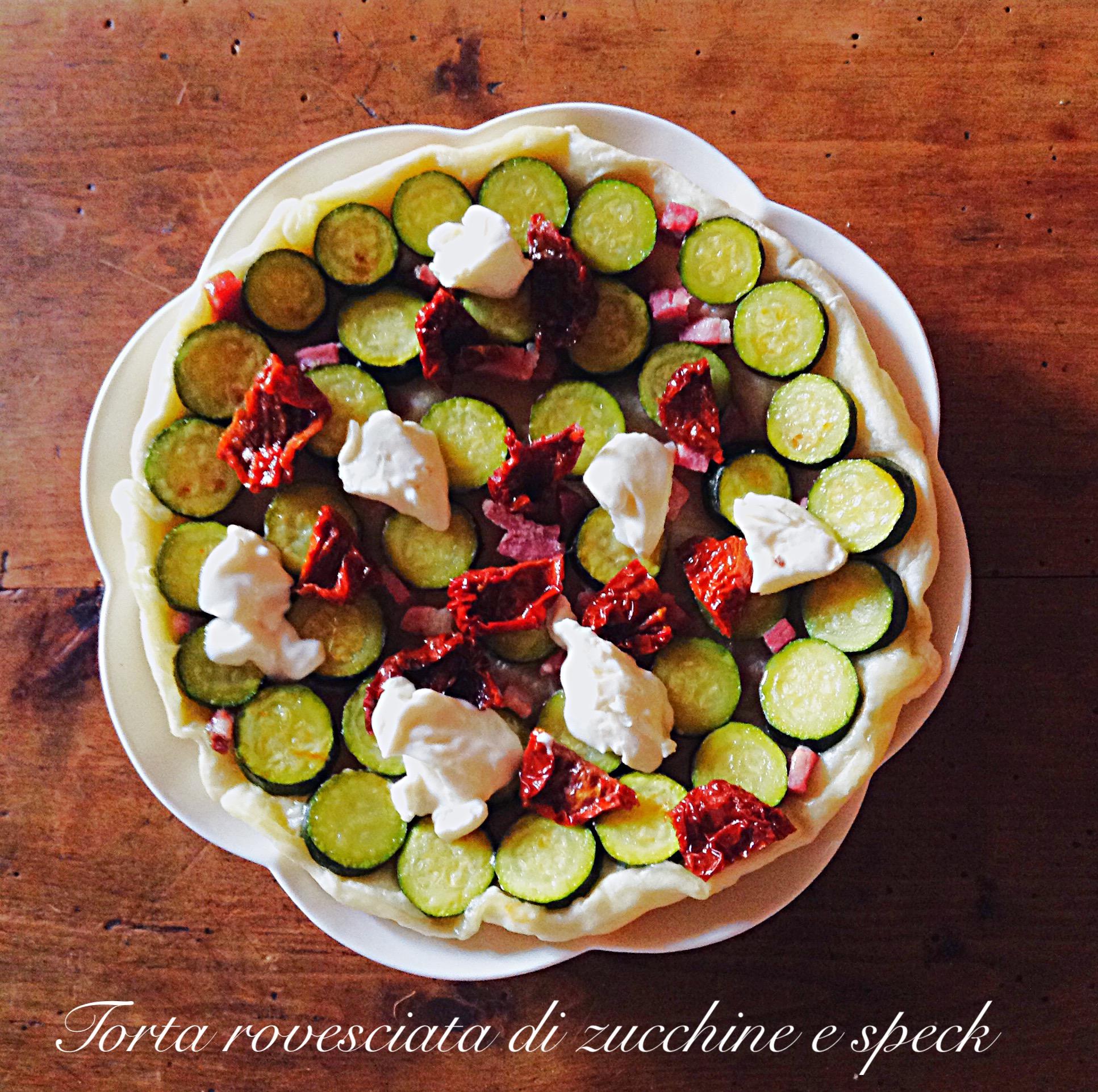 Torta rovesciata di zucchine e speck 2