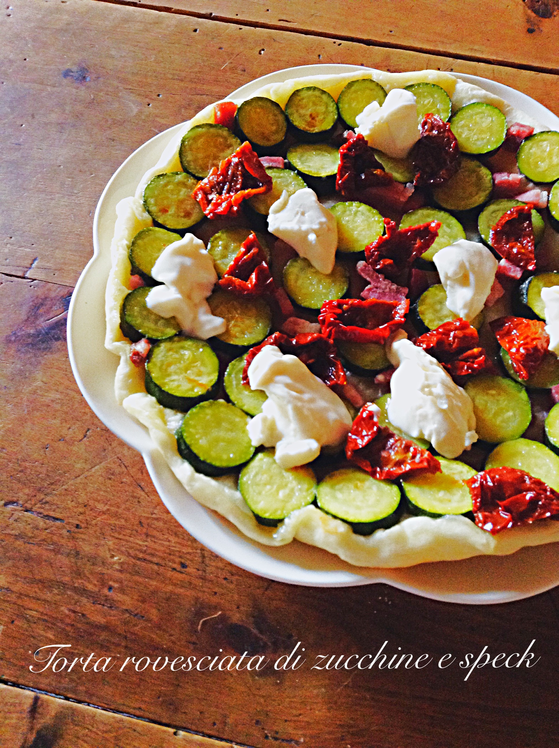 Torta rovesciata di zucchine e speck 3